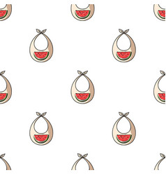 Baby bib icon in cartoon style isolated on white vector