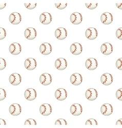 Baseball ball pattern cartoon style vector image