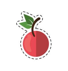 cartoon fruit vegan nutrition icon vector image