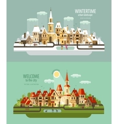 City town logo design template house vector