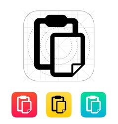 Clipboard with file icon vector