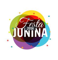 Colorful 2016 festa junina background vector