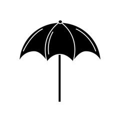 Contour nice umbrella open to protect of sun vector