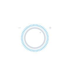 Control knob regulator vector