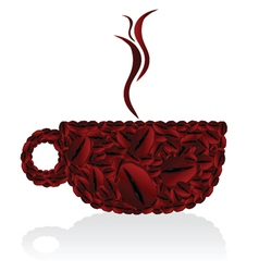 Cups of coffee bean vector
