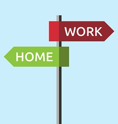 Directions to work home vector