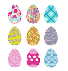 Easter eggs set Easter eggs on white background vector image vector image