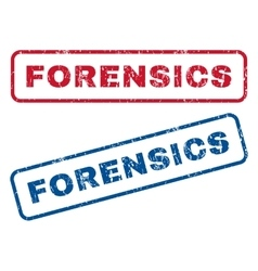 Forensics rubber stamps vector