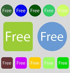 Free sign icon special offer symbol 12 colored vector