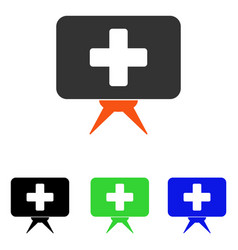 Health care presentation flat icon vector