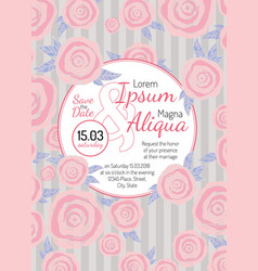 Invitation wedding card vector