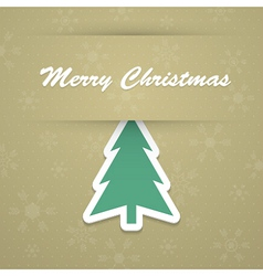 Merry christmas background with fir tree vector image vector image