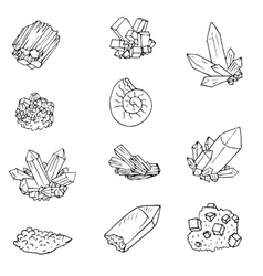 Mineralsstones and cristals vector