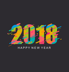 modern bright happy new year 2018 design card vector image