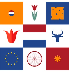Netherlands Icon set vector image vector image