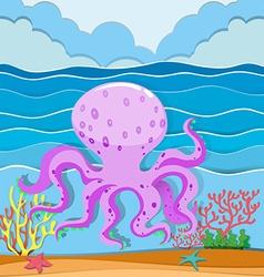 Octopus in the ocean vector image vector image