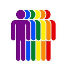 People lgbt movement rainbow flag vector