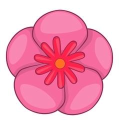 Rose of sharon korean flower icon cartoon style vector