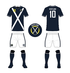 Soccer kit football jersey template for scotland vector