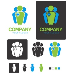 Social Health company identity logo template vector image