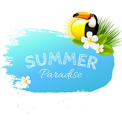 Summer Banner Blot With Flowers vector image vector image