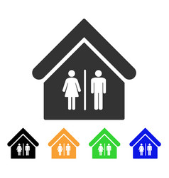 Toilet building icon vector