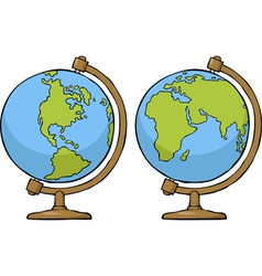 Two globe vector