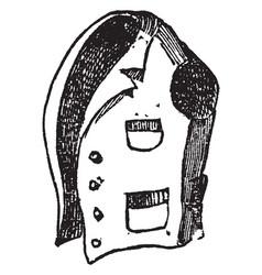 Vest is a waistcoat for men vintage engraving vector