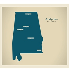 Modern map usa alabama vector