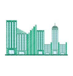Drawing building facade college vector