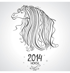 Horse horoscope vector