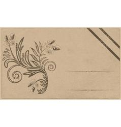 Floral postcard vector