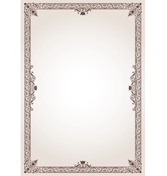 Decorative border frame vector