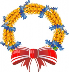 Wheat wreath vector