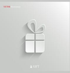 Gift icon - white app button vector