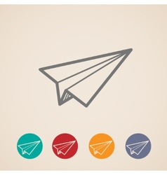 Set of paper plane icons vector