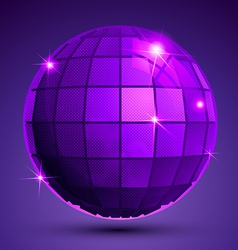Grained plastic purple flash globe bright vector