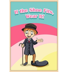 English idiom with shoe vector