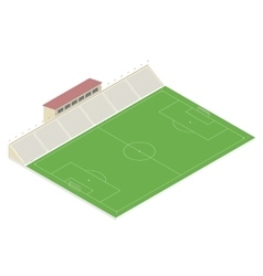 Isometric soccer field vector