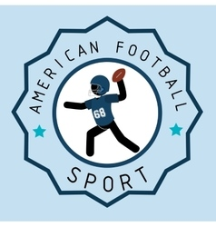 American football game sport vector