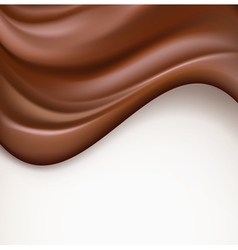 Chocolate wavy background vector