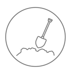 Mining shovel line icon vector