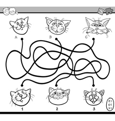 maze puzzle task for coloring vector image