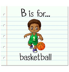 Flashcard alphabet B is for basketball vector image