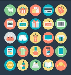 Shopping colored icons 1 vector
