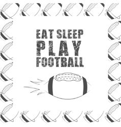 American football motivation quote background with vector