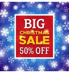 Big christmas sale promo banner template vector