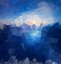 Blue sky sea polygonal triangular pattern vector