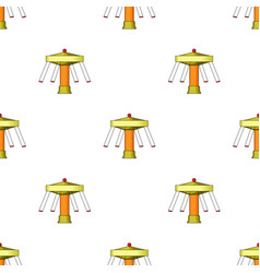 Carousel with seats on chains for children vector