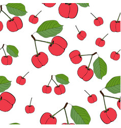 cute cherry seamless pattern good for textile vector image vector image